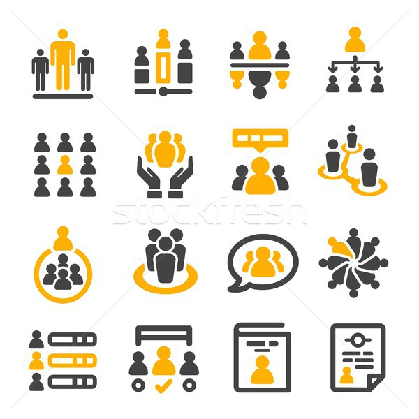Stock photo: people management icon