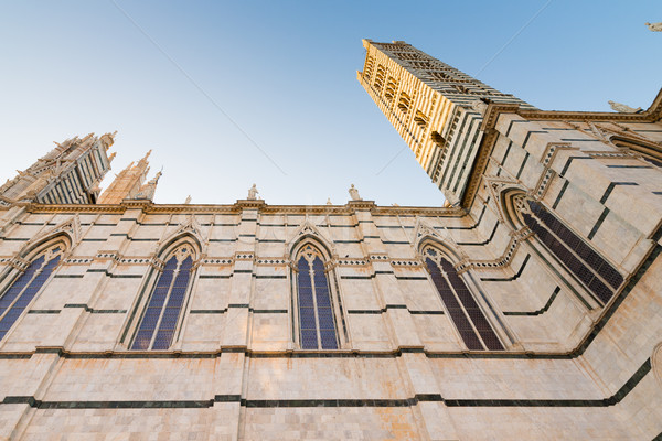 Katedral Toskana gökyüzü şehir seyahat Stok fotoğraf © bubutu