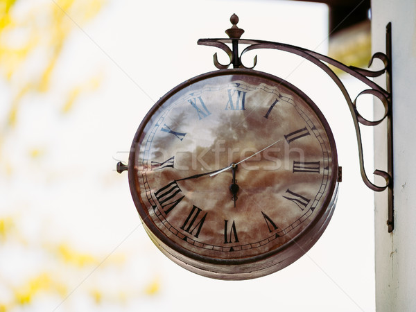 Big vintage old clock hanging on the wall  Stock photo © bubutu