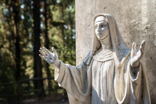 Heykel manastır doktor kilise aziz Stok fotoğraf © bubutu