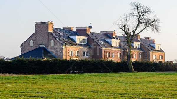 Terraced house in the English Victorian style Stock photo © bubutu