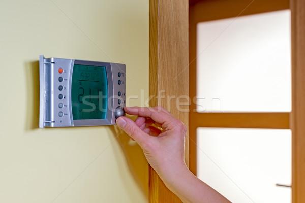 Сток-фото: стороны · комнату · температура · современных · термостат