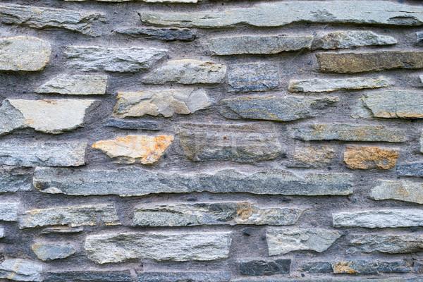 pattern of decorative slate stone wall surface Stock photo © bubutu