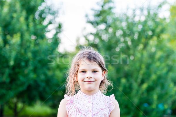 Mutlu kız heyecanlı genç kız gülen mutlu şaşırmış Stok fotoğraf © bubutu
