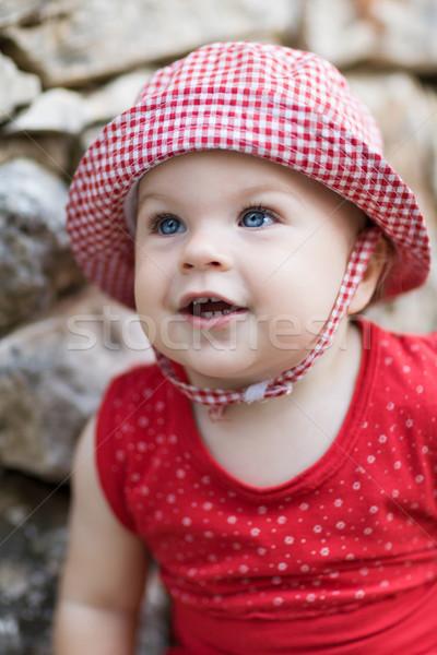 Cute Baby Girl - very shallow depth of field Stock photo © bubutu