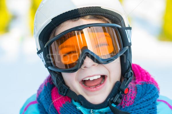 Sí síelő lány tél vakáció hó Stock fotó © bubutu