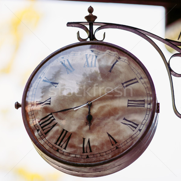 Big vintage old clock hanging on the wall Stock photo © bubutu
