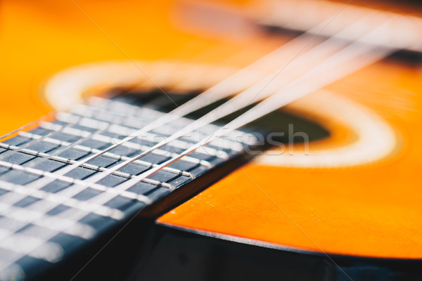 Detail of classic guitar with shallow depth of field Stock photo © bubutu