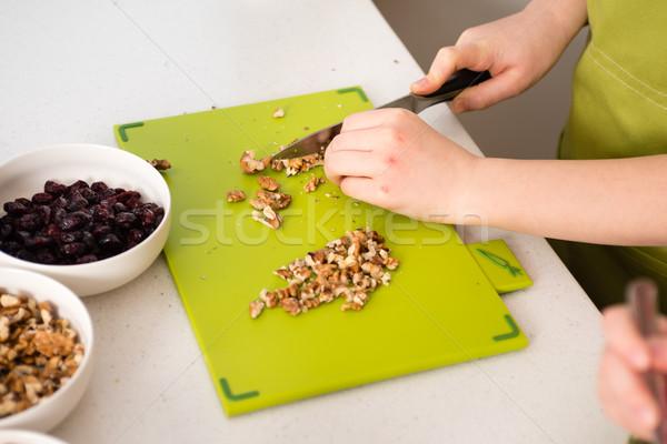 разделочная доска ножом гранола кухне домой Сток-фото © bubutu
