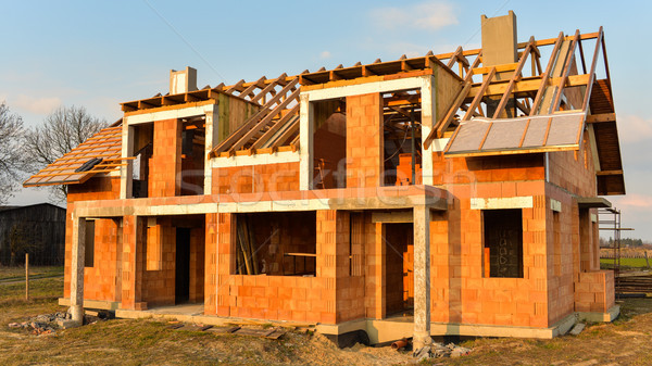 Rough brick building house under construction Stock photo © bubutu