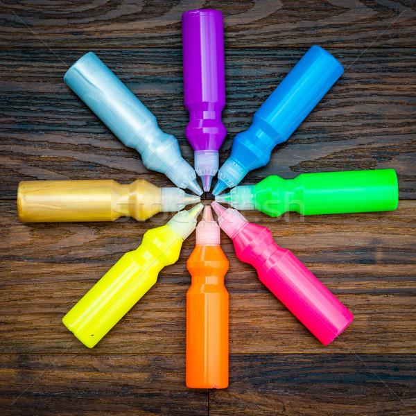 бутылок красочный высушите аннотация Сток-фото © bubutu