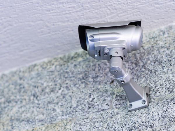 камеры безопасности современное здание серый каменной стеной технологий промышленности Сток-фото © bubutu