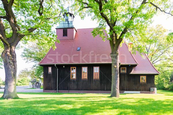 Norwegian wooden church in Krzesiny - Poznan Stock photo © bubutu