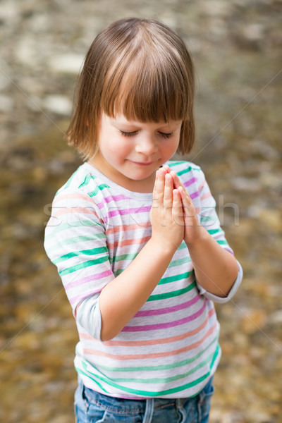 little girl praying     Stock photo © bubutu