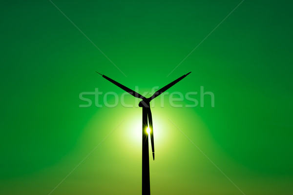 Wind turbine power generator - Green Power Concept Stock photo © bubutu