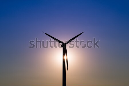 Wind turbine power generator at twilight Stock photo © bubutu