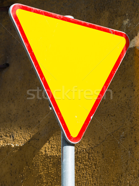 Give way sign - yield sign Stock photo © bubutu