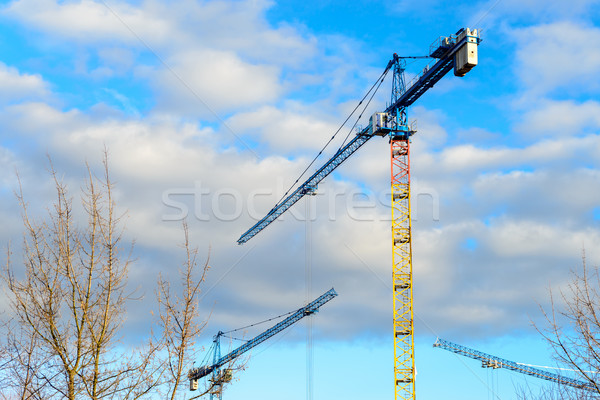 Bouw mooie bewolkt hemel werk industrie Stockfoto © bubutu
