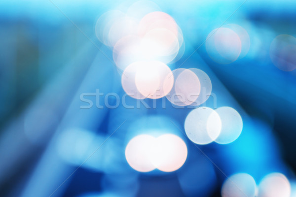 Abstract style - Defocused Blue highway lights Stock photo © bubutu