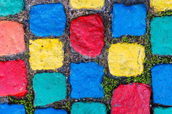 Pavement - Painted Cobblestones Stock photo © bubutu