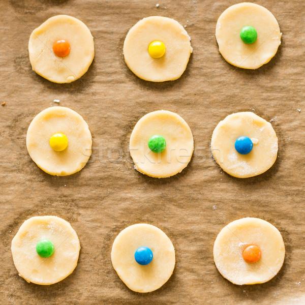 fresh raw cookie dough ready for baking Stock photo © bubutu