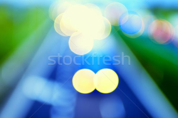 Abstract stijl snelweg lichten textuur licht Stockfoto © bubutu