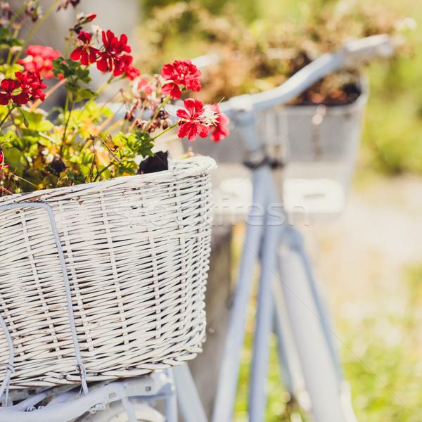 Mand retro fiets retro-stijl oude Stockfoto © bubutu