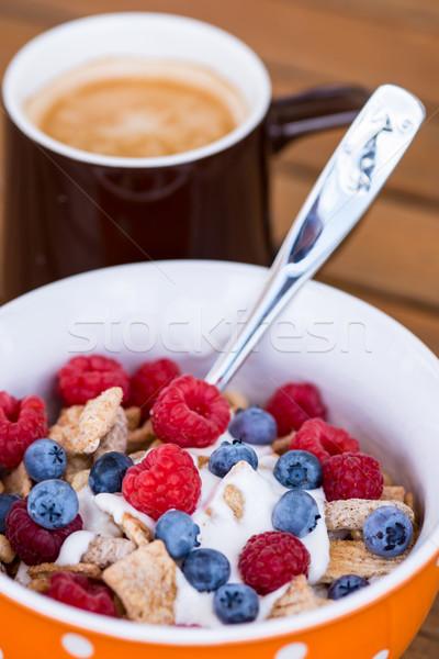 healthy breakfast -muesli and coffee Stock photo © bubutu