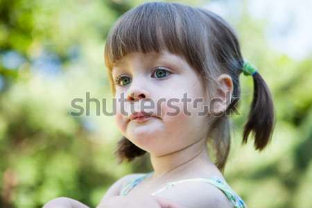 Sulky angry young girl  - sulking and pouting Stock photo © bubutu