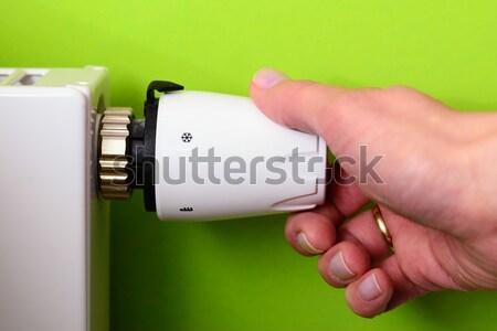 радиатор термостат стороны красный комнату Сток-фото © bubutu