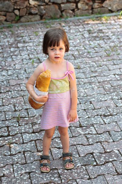 愛らしい 女の子 ローフ パン かわいい ストックフォト © bubutu