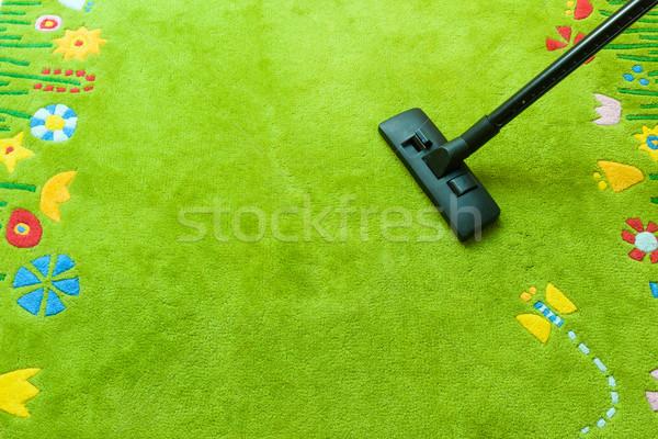 Aspirateur bien rangé up tapis espace de copie Photo stock © bubutu