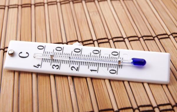 Termometro stanza celsius scala legno strumento Foto d'archivio © Bumerizz