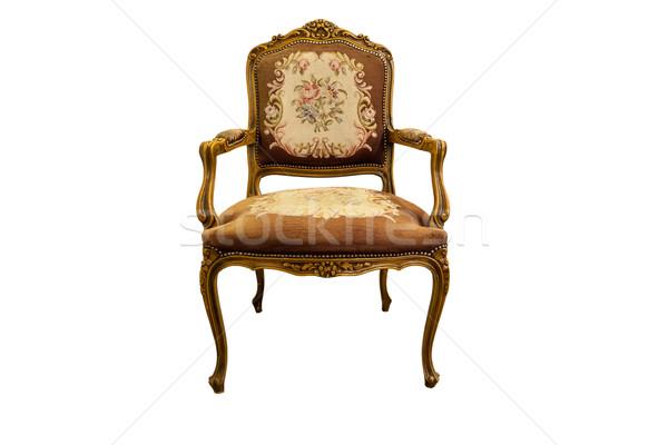 Antika sandalye fransız meşe ahşap yalıtılmış Stok fotoğraf © Bumerizz