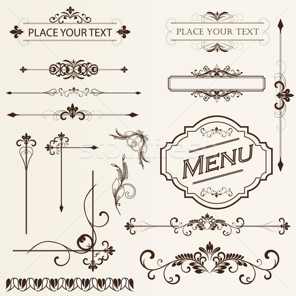 Dizayn elemanları sayfa dekorasyon Stok fotoğraf © Bumerizz