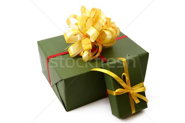 Noel hediye kutusu kutu hediye sunmak kutlama Stok fotoğraf © Bumerizz