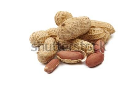 арахис изолированный белый макроса фото продовольствие Сток-фото © Bumerizz