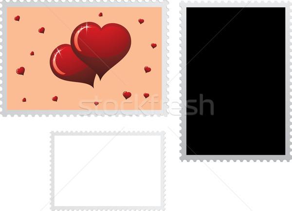 почтовая марка праздник два можете Сток-фото © Bumerizz