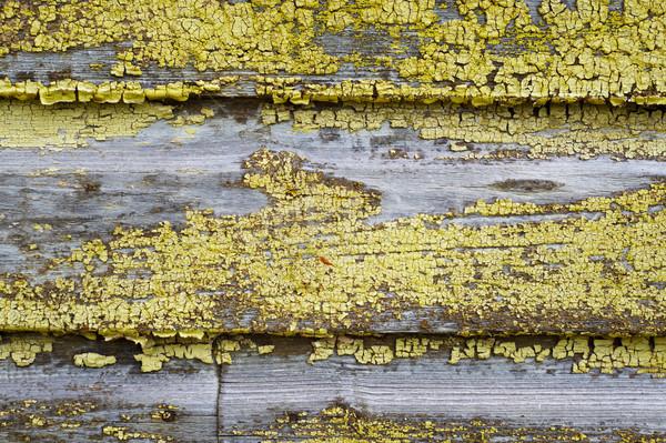 старые треснувший окрашенный древесины поверхность текстуры Сток-фото © Bumerizz