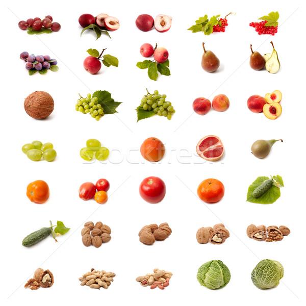 Yalıtılmış meyve sebze ayarlamak beyaz gıda Stok fotoğraf © Bumerizz