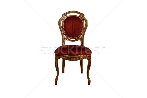 антикварная мебель французский дуб древесины изолированный Сток-фото © Bumerizz