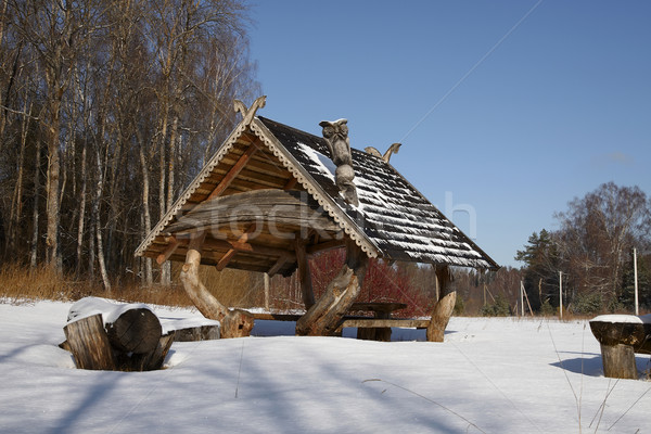 Snow-covered forest resort Stock photo © Bumerizz