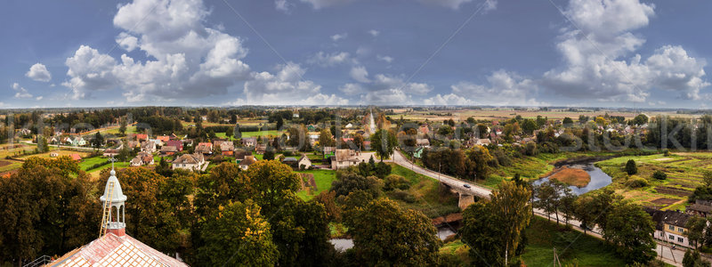 Panorama güzel şehir gökyüzü sonbahar Stok fotoğraf © Bumerizz
