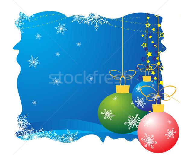 Noel yılbaşı kart renkli ağaç Stok fotoğraf © Bumerizz