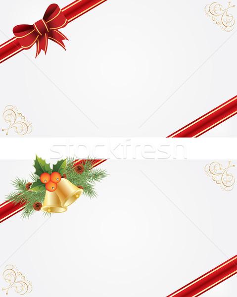 Noel kareler tebrik kartları güzellik mektup Stok fotoğraf © Bumerizz