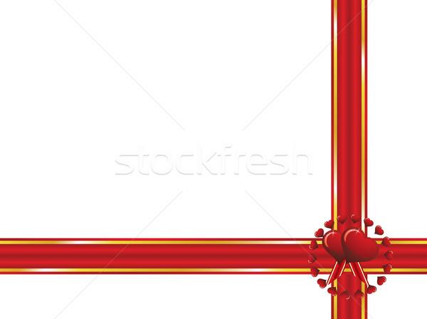 Sevgililer günü mühürlemek hediye kalp arka plan beyaz Stok fotoğraf © Bumerizz