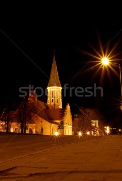 Muhteşem Gotik kilise bakire Stok fotoğraf © Bumerizz