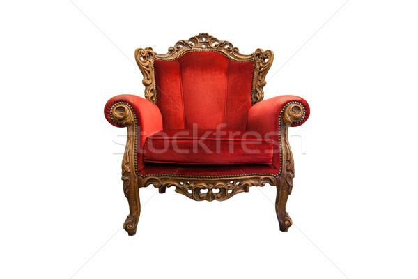 роскошный кресло классический деревянный стул изолированный белый Сток-фото © Bumerizz