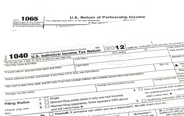 Tax forms 1040,1065 Stock photo © Bunwit