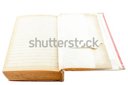 Open old book with line isolated on white background Stock photo © Bunwit